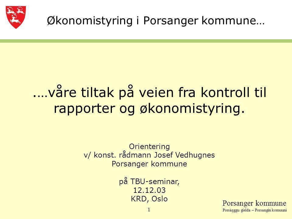 Økonomistyring i Porsanger kommune…