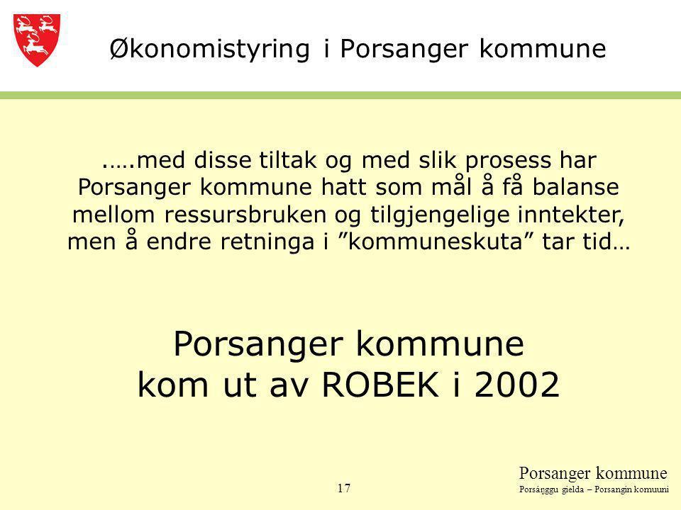 Økonomistyring i Porsanger kommune