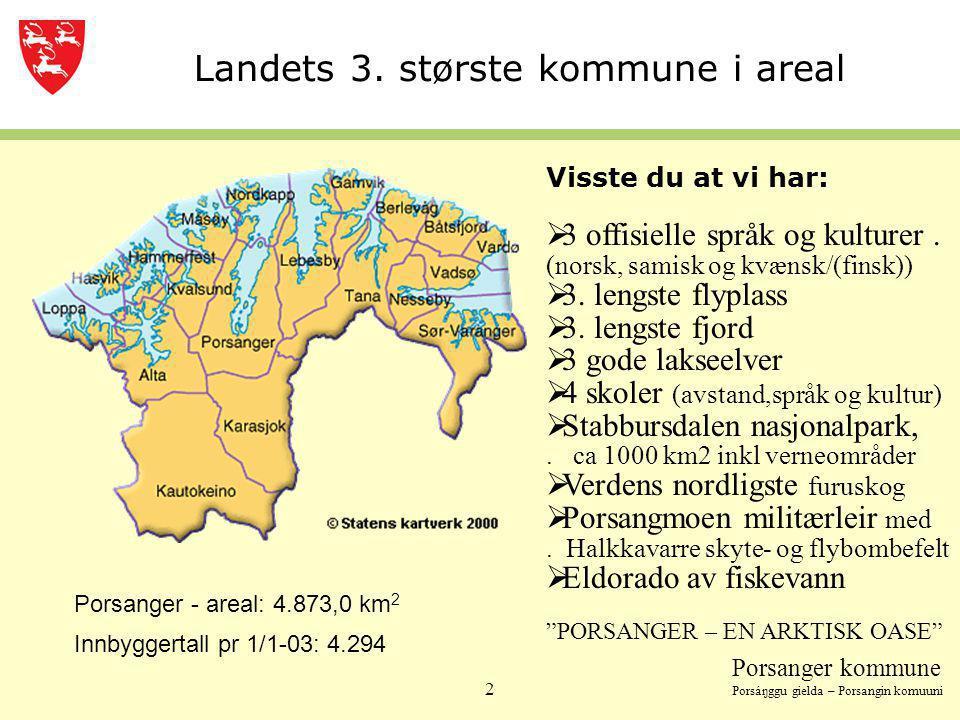 Landets 3. største kommune i areal