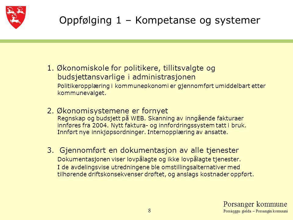Oppfølging 1 – Kompetanse og systemer