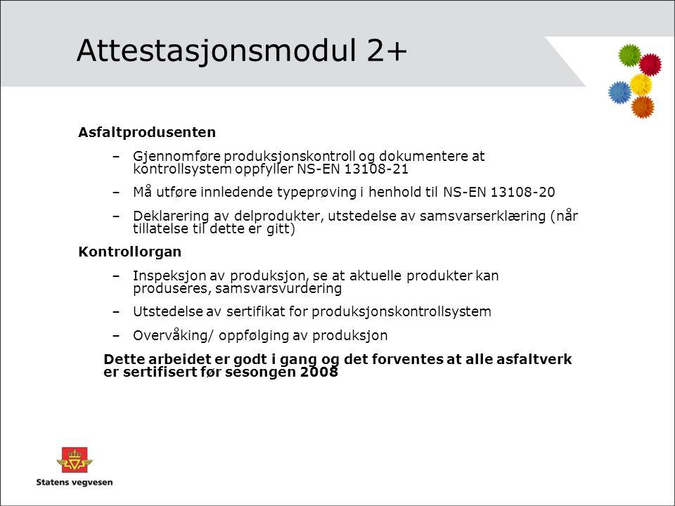 Attestasjonsmodul 2+ Asfaltprodusenten