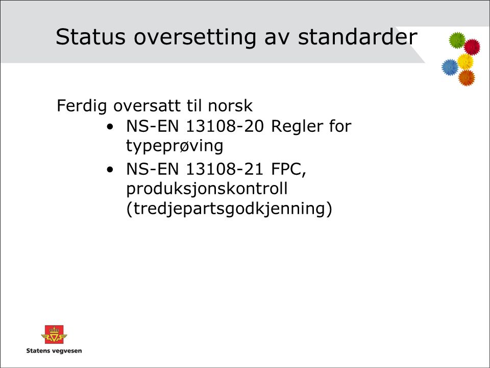 Status oversetting av standarder
