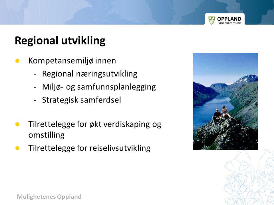 Regional utvikling Kompetansemiljø innen - Regional næringsutvikling
