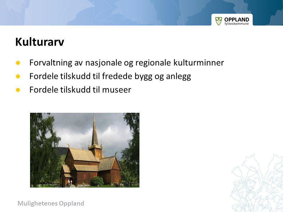 Kulturarv Forvaltning av nasjonale og regionale kulturminner