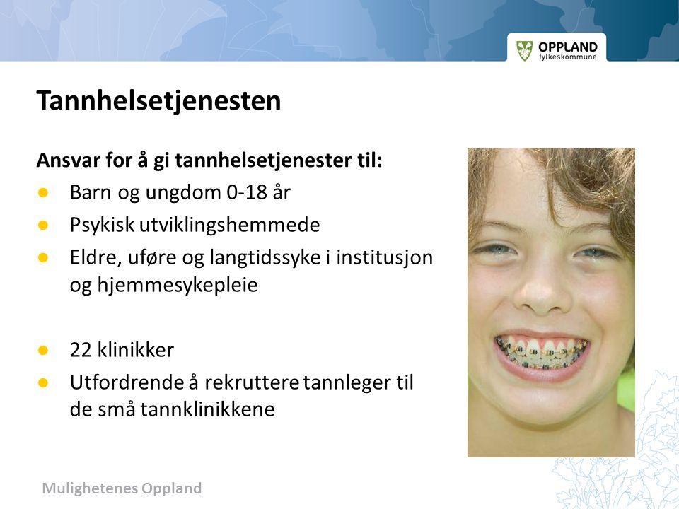 Tannhelsetjenesten Ansvar for å gi tannhelsetjenester til: