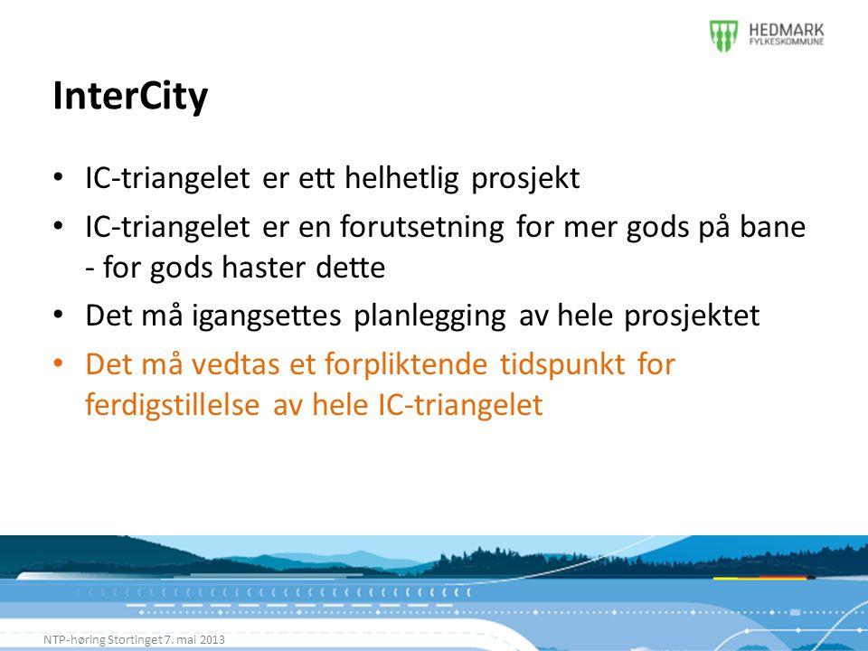 InterCity IC-triangelet er ett helhetlig prosjekt