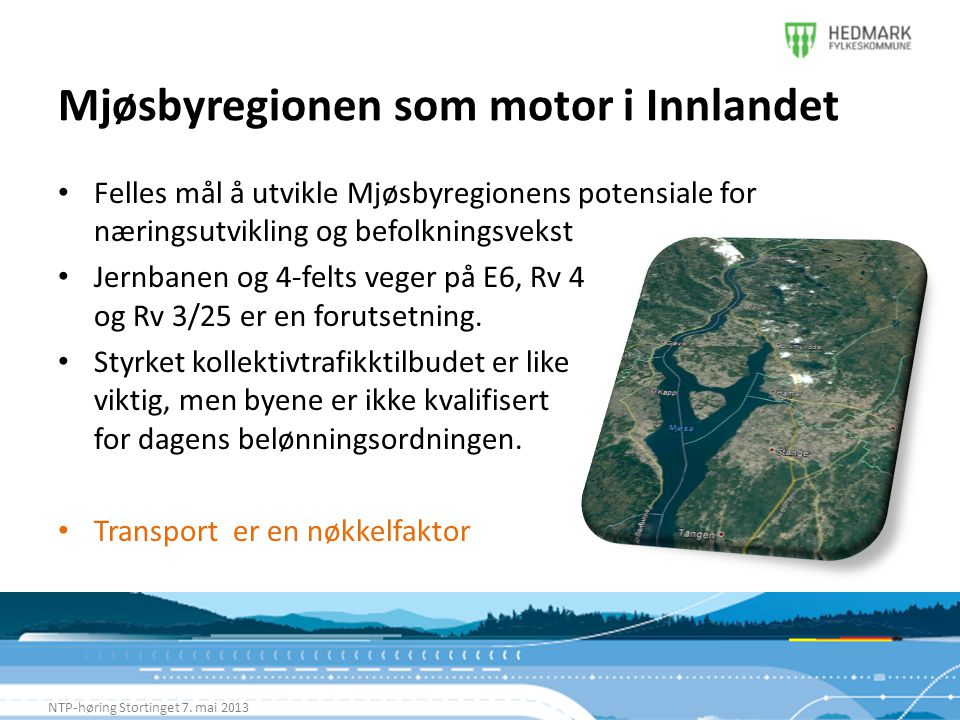 Mjøsbyregionen som motor i Innlandet