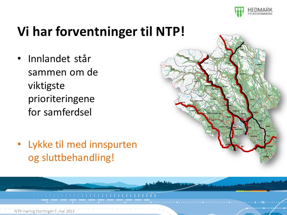 Vi har forventninger til NTP!