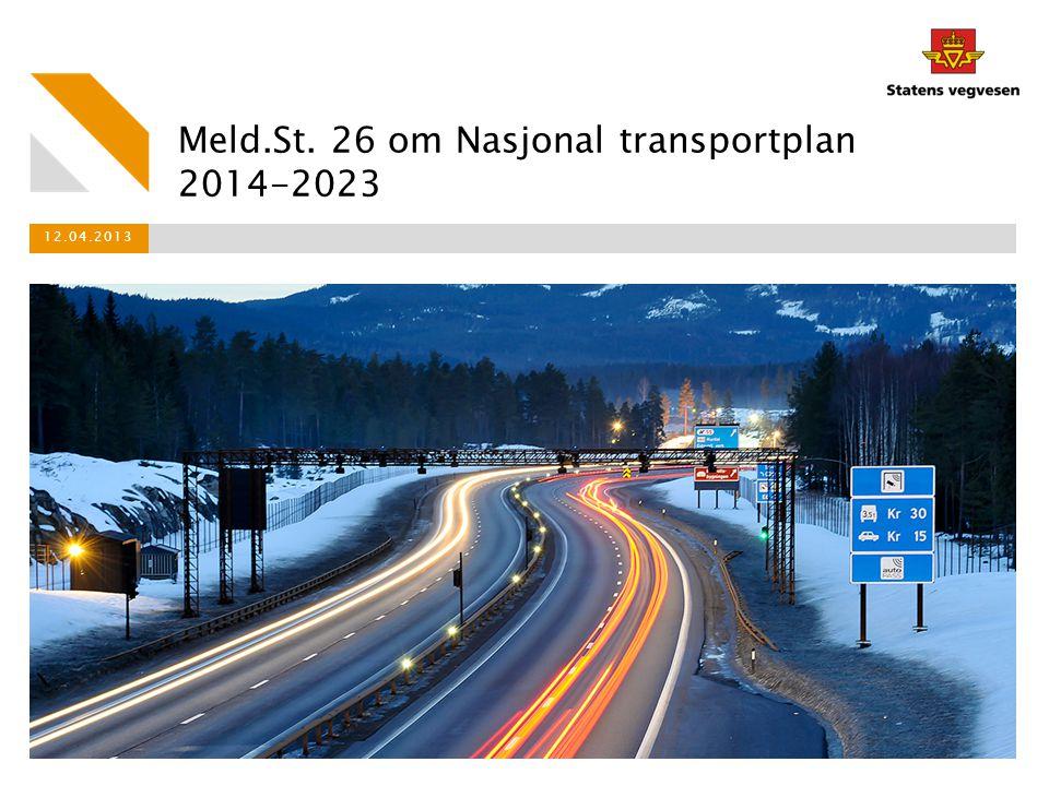 Meld.St. 26 om Nasjonal transportplan 2014-2023