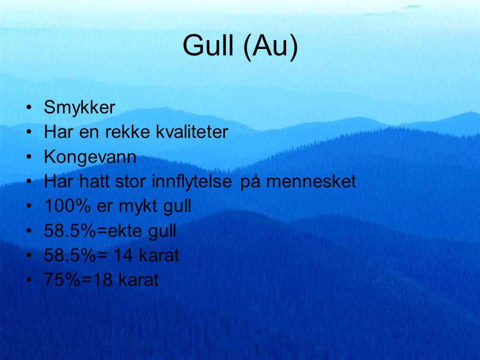 Gull (Au) Smykker Har en rekke kvaliteter Kongevann