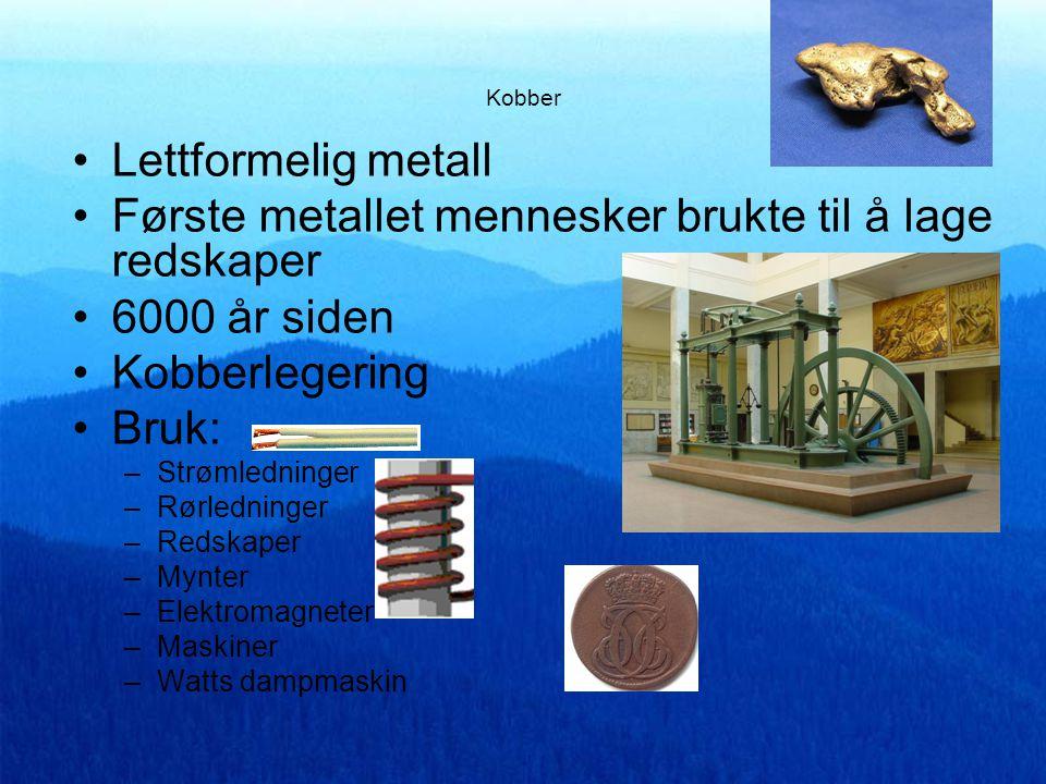 Første metallet mennesker brukte til å lage redskaper 6000 år siden