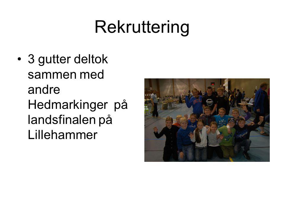 Rekruttering 3 gutter deltok sammen med andre Hedmarkinger på landsfinalen på Lillehammer
