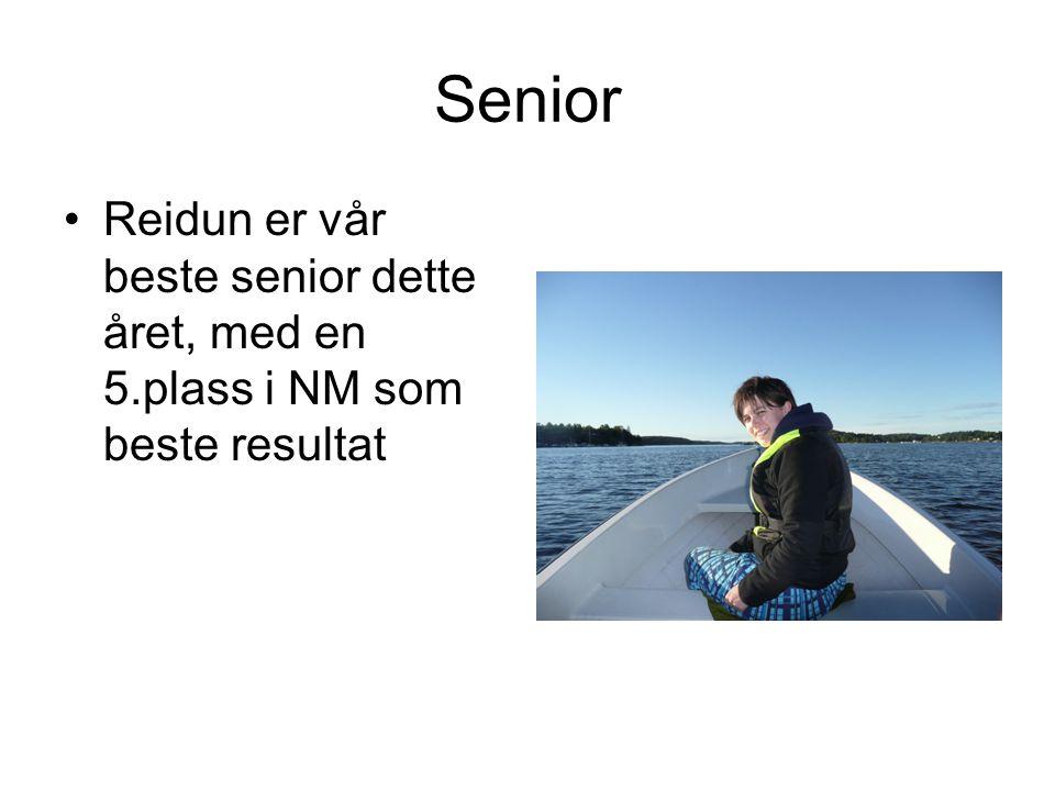 Senior Reidun er vår beste senior dette året, med en 5.plass i NM som beste resultat
