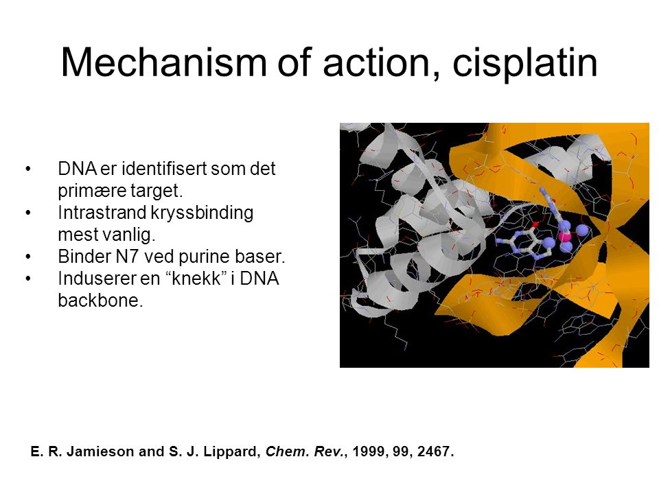 Mechanism of action, cisplatin