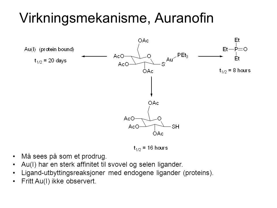 Virkningsmekanisme, Auranofin