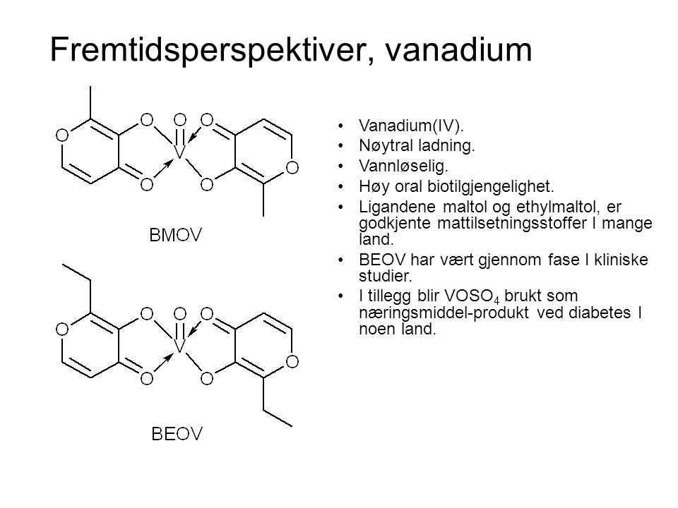 Fremtidsperspektiver, vanadium