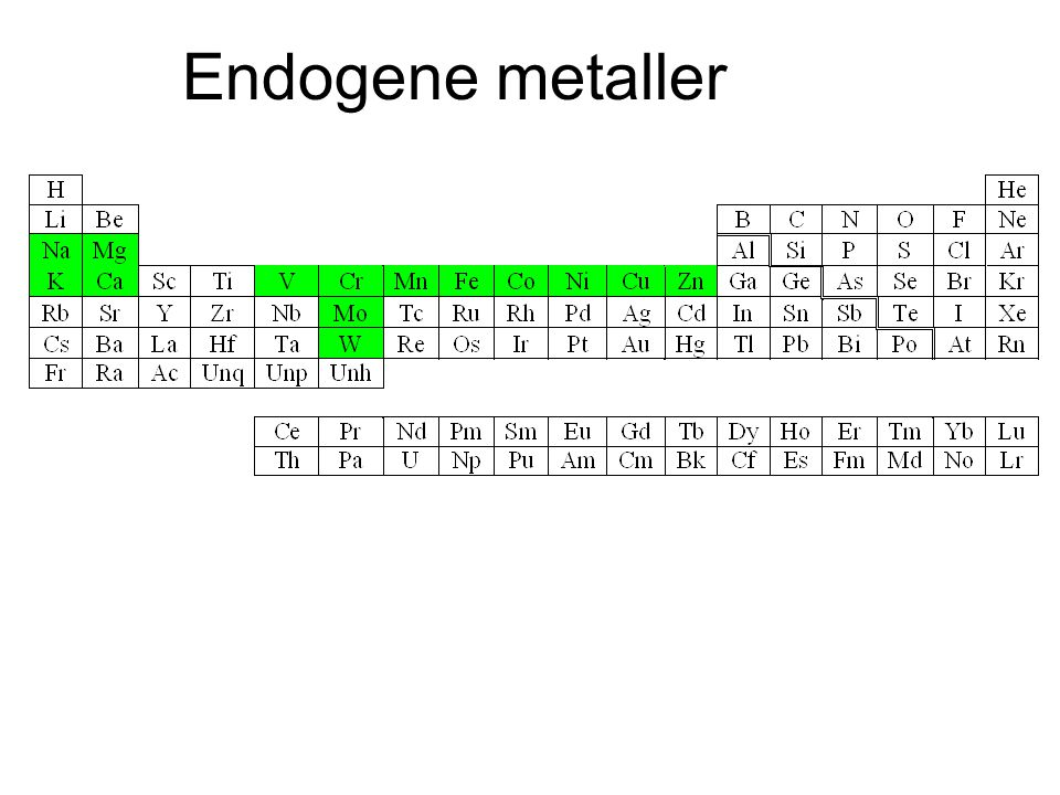 Endogene metaller