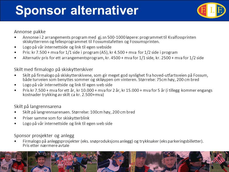 Sponsor alternativer Annonse pakke