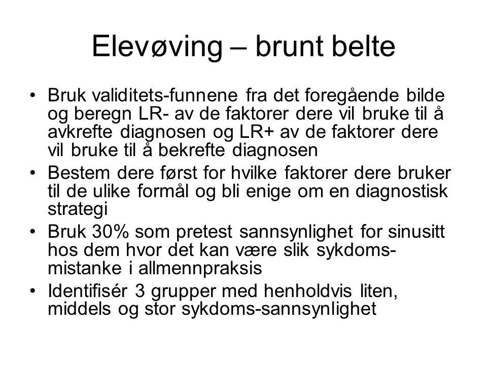 Elevøving – brunt belte