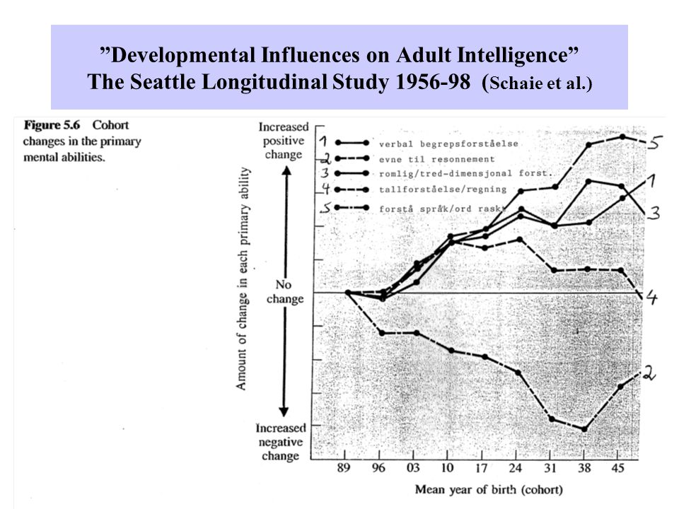 Developmental Influences on Adult Intelligence The Seattle Longitudinal Study 1956-98 (Schaie et al.)