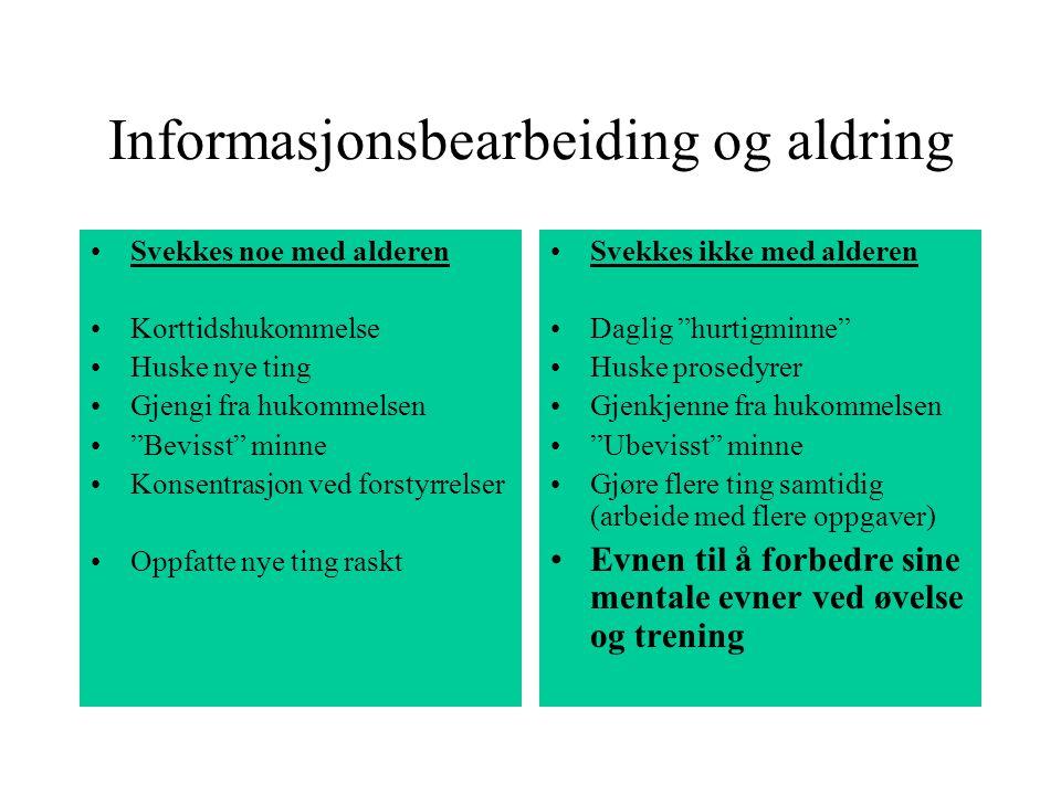 Informasjonsbearbeiding og aldring