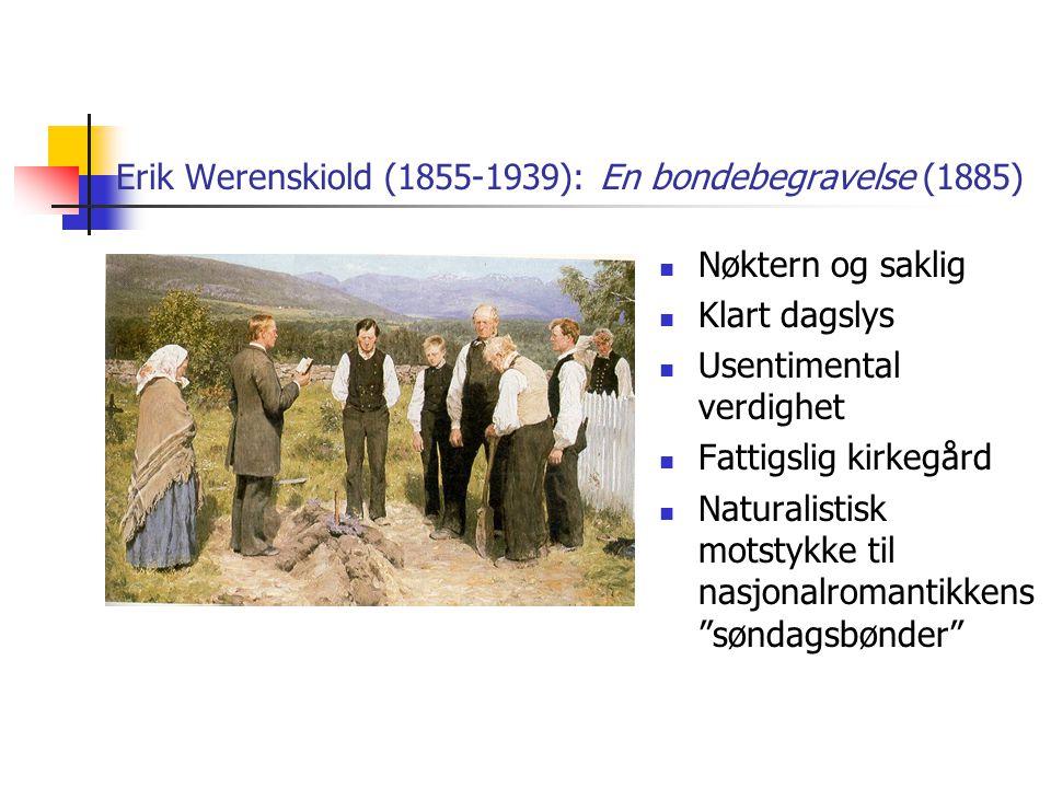 Erik Werenskiold (1855-1939): En bondebegravelse (1885)
