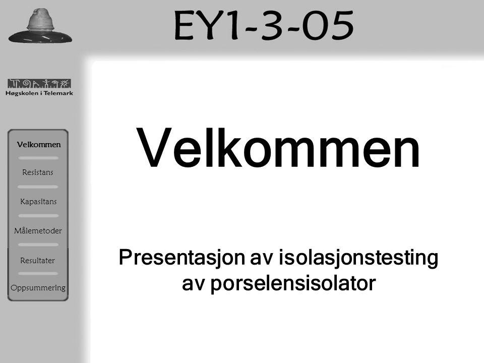 Presentasjon av isolasjonstesting av porselensisolator