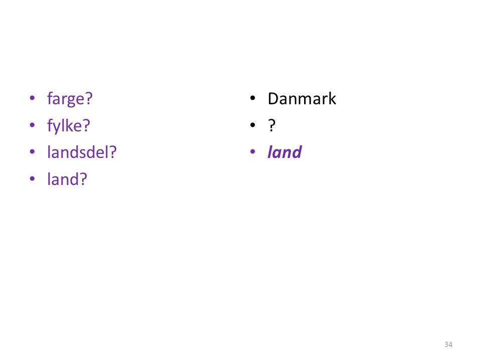 farge fylke landsdel land Danmark land