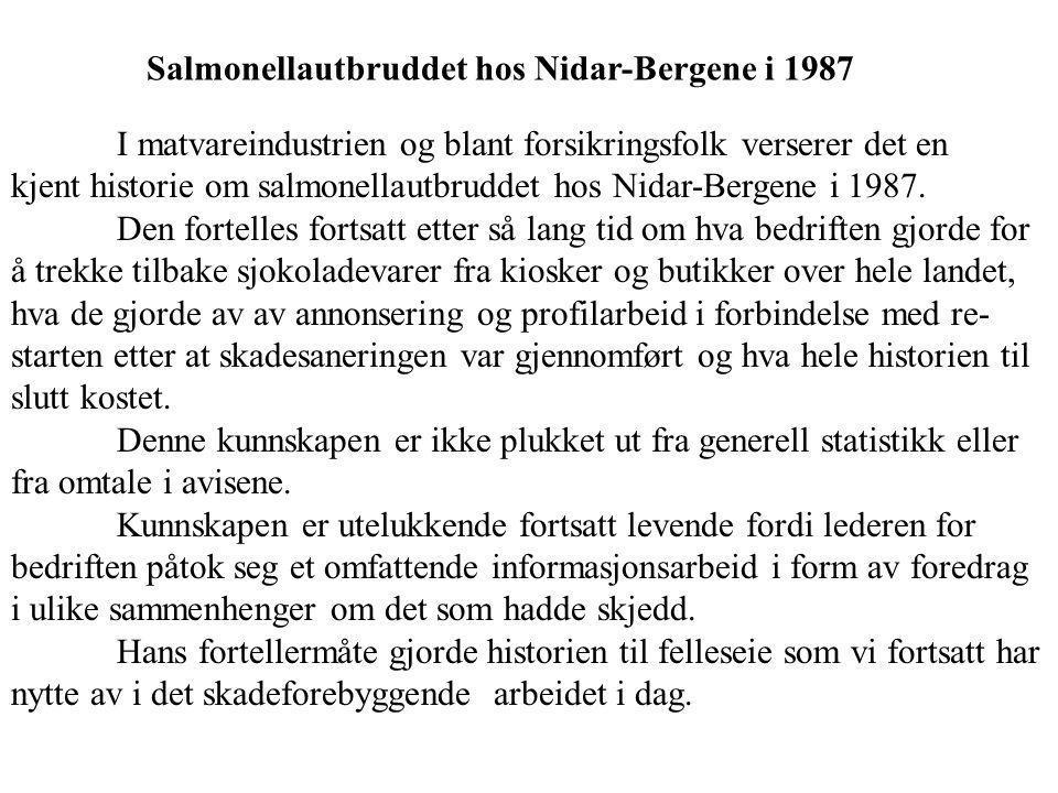 Salmonellautbruddet hos Nidar-Bergene i 1987