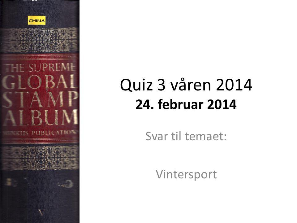 Svar til temaet: Vintersport