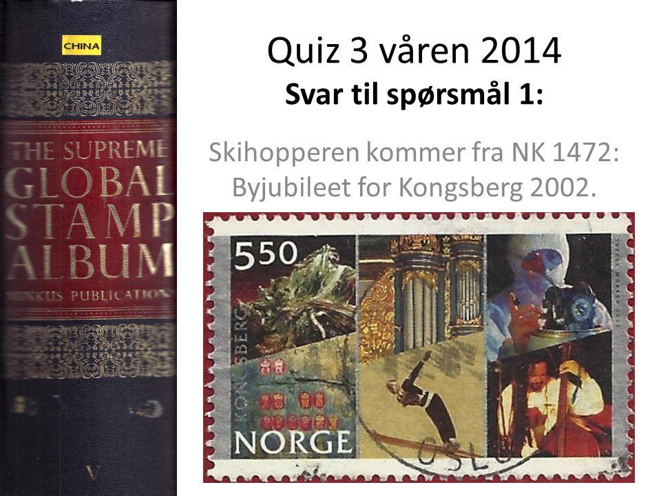 Quiz 3 våren 2014 Svar til spørsmål 1: