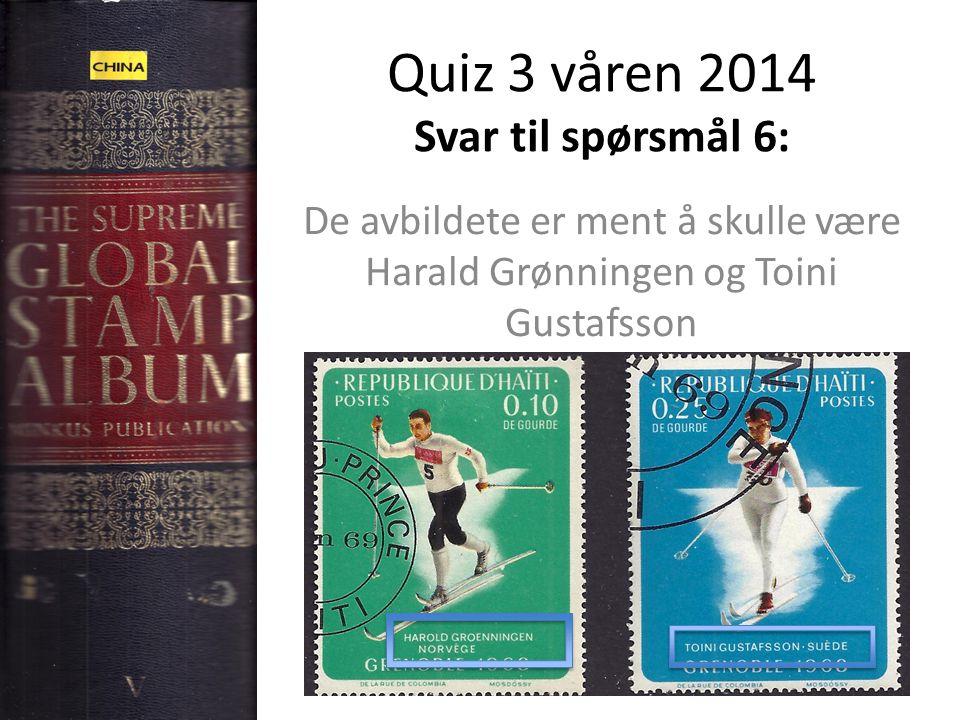 Quiz 3 våren 2014 Svar til spørsmål 6: