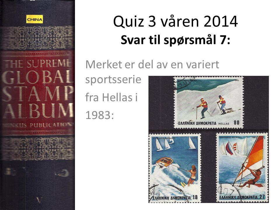 Quiz 3 våren 2014 Svar til spørsmål 7: