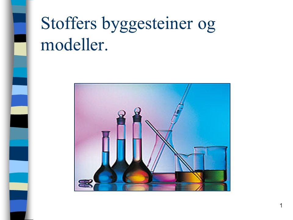 Stoffers byggesteiner og modeller.