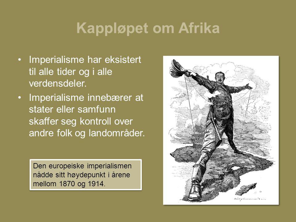 Kappløpet om Afrika Imperialisme har eksistert til alle tider og i alle verdensdeler.