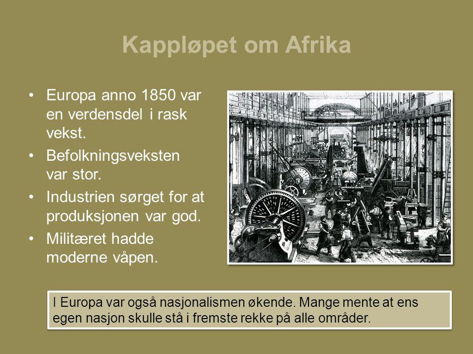 Kappløpet om Afrika Europa anno 1850 var en verdensdel i rask vekst.