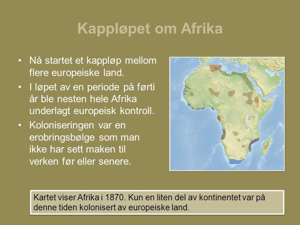 Kappløpet om Afrika Nå startet et kappløp mellom flere europeiske land.