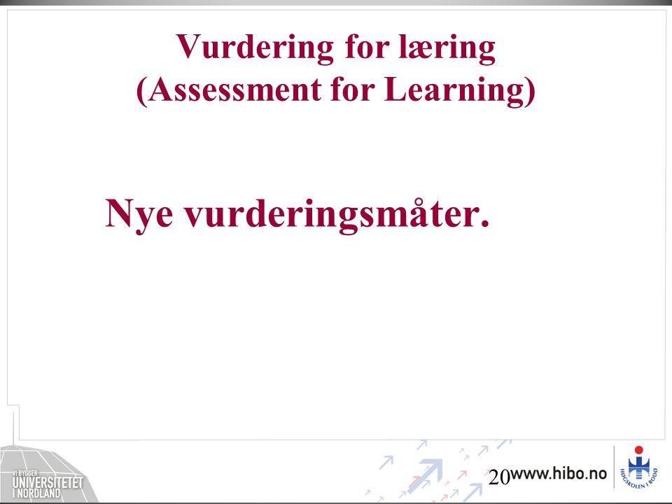 Vurdering for læring (Assessment for Learning)