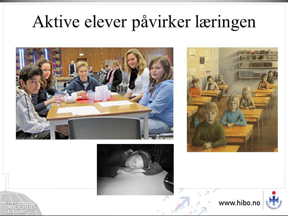 Aktive elever påvirker læringen