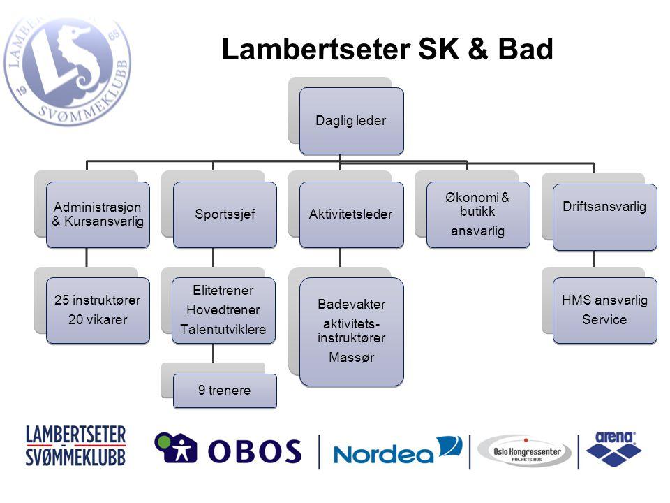 Lambertseter SK & Bad Daglig leder Administrasjon & Kursansvarlig