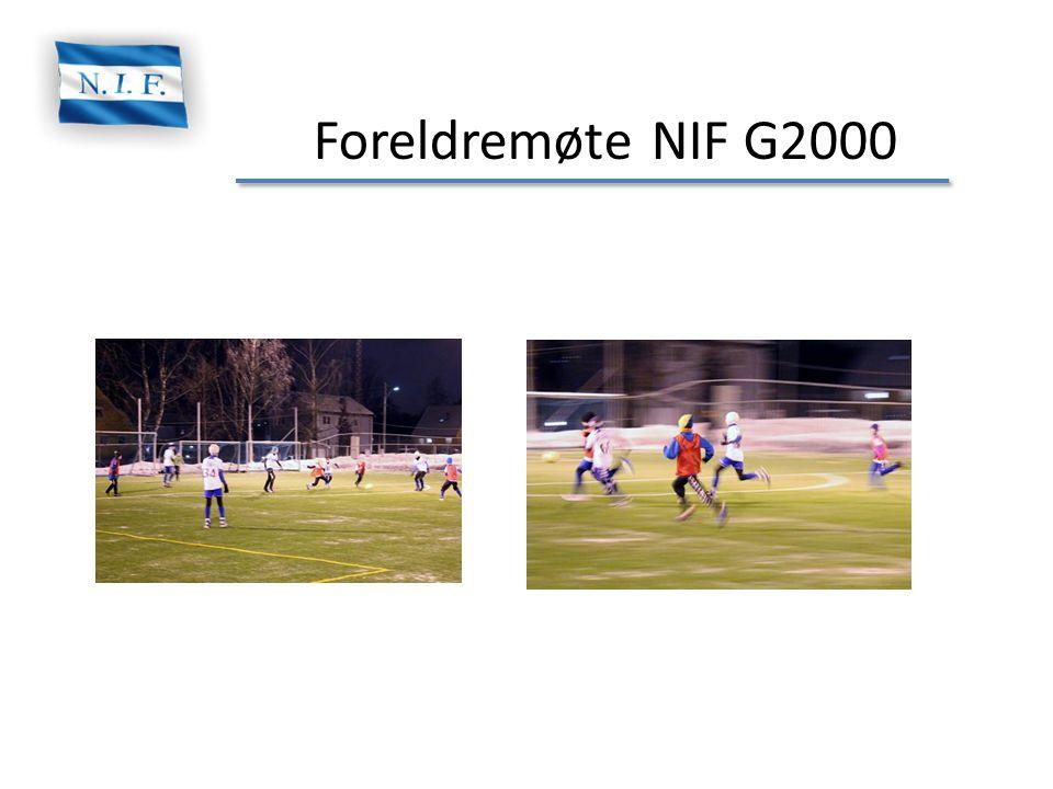 Foreldremøte NIF G2000