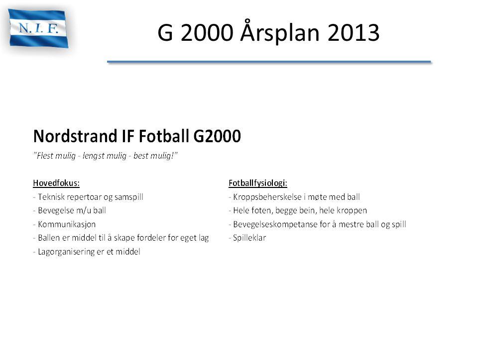 G 2000 Årsplan 2013