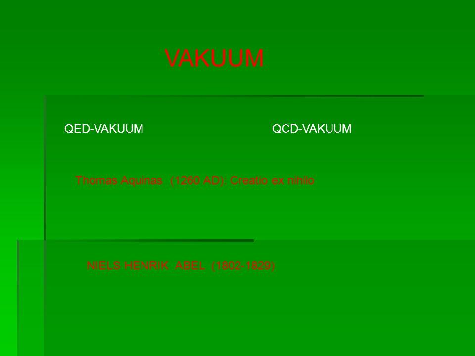 VAKUUM QED-VAKUUM QCD-VAKUUM