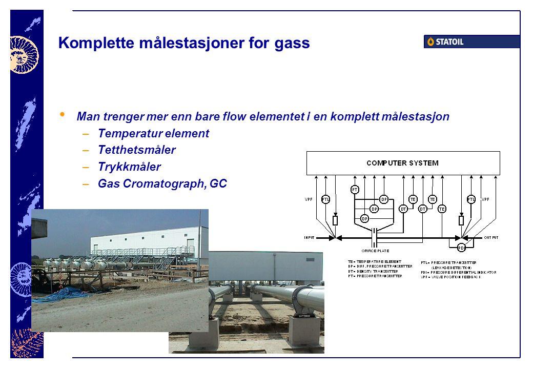 Komplette målestasjoner for gass