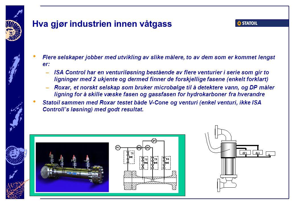 Hva gjør industrien innen våtgass