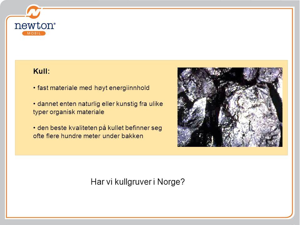 Har vi kullgruver i Norge