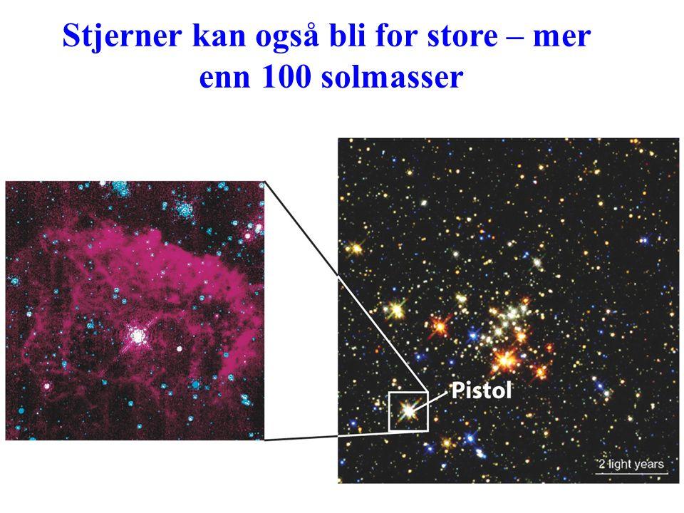 Stjerner kan også bli for store – mer enn 100 solmasser