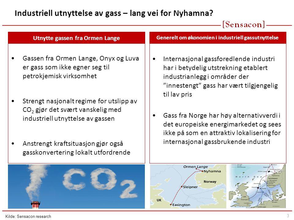 Industriell utnyttelse av gass – lang vei for Nyhamna