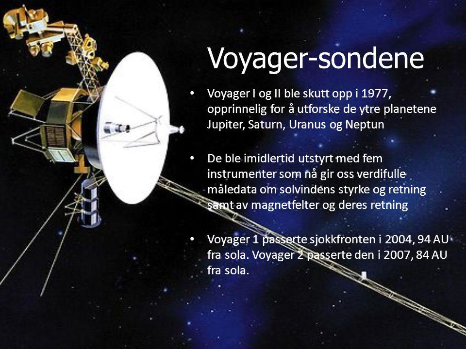 Voyager-sondene Voyager I og II ble skutt opp i 1977, opprinnelig for å utforske de ytre planetene Jupiter, Saturn, Uranus og Neptun.