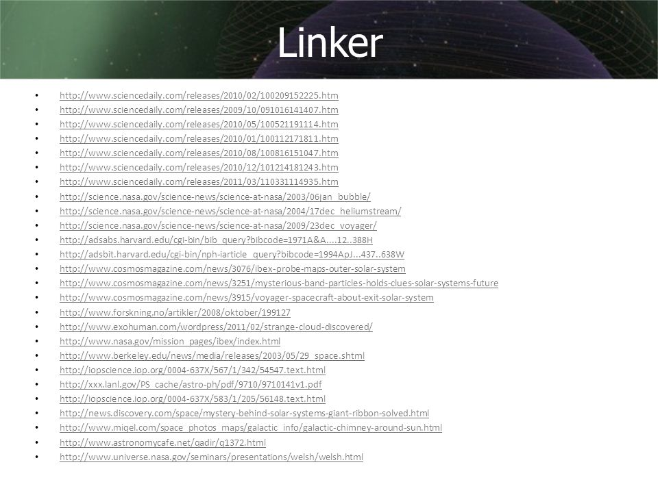 Linker http://www.sciencedaily.com/releases/2010/02/100209152225.htm